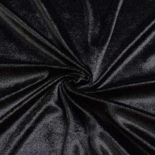 Велюр стрейч черный, ш.170 оптом