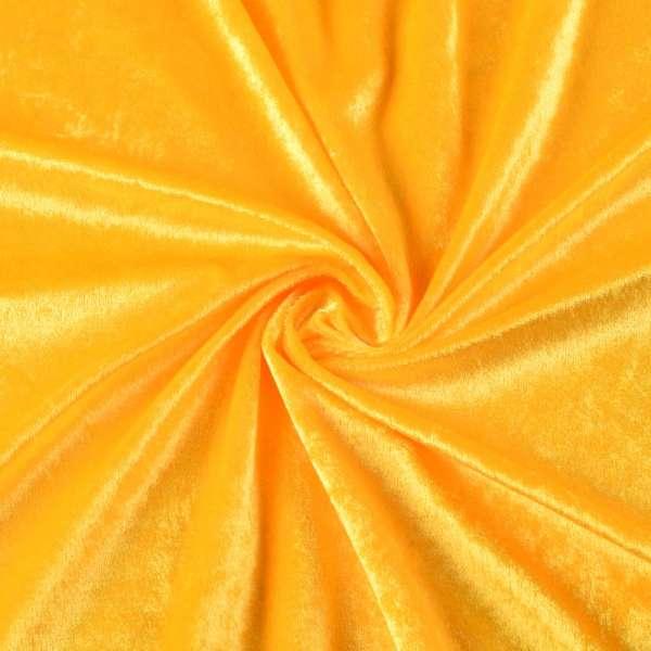 Велюр стрейч желтый, ш.170 оптом