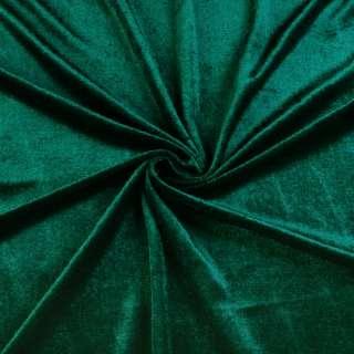 Велюр стрейч зеленый темный, ш.170 оптом