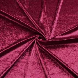 Велюр стрейч бордовый, ш.170 оптом