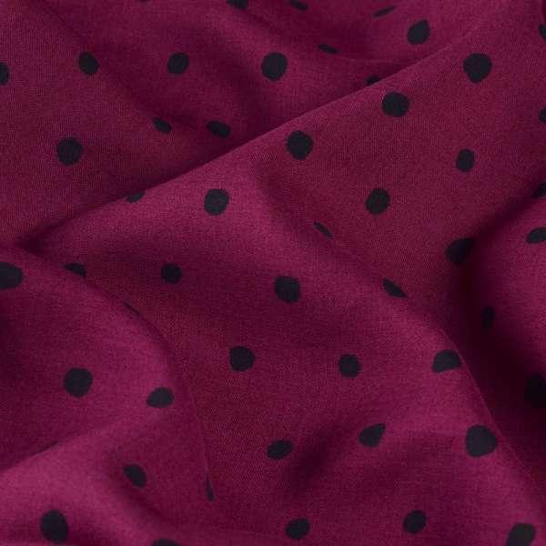 Вискоза вишневая в черный горох ш.134 оптом