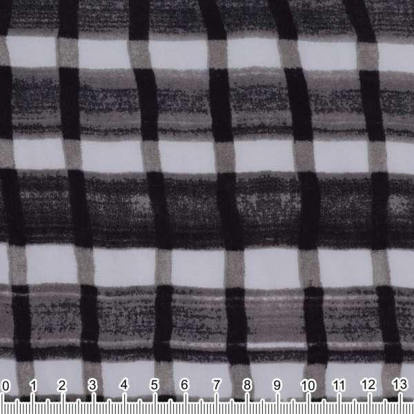 Вискоза в серо-бело-черную клетку ш.130 оптом