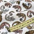 Вискоза белая в разноцветные хамелеоны, ш.130 оптом