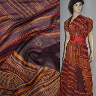 вискоза  блуз.  коричневая бордо (полоска) ш.140 оптом