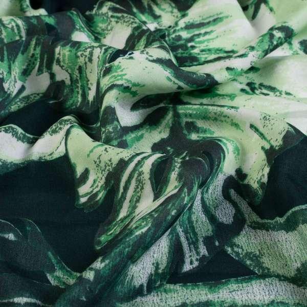 Вискоза черная в крупные листья, ш.145 оптом
