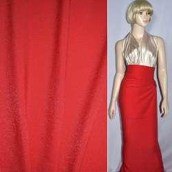 Вискоза с органзой костюмная красная, ш.150