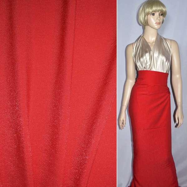 Вискоза с органзой костюмная красная, ш.150 оптом