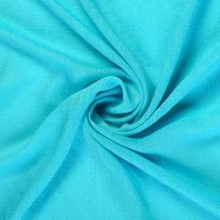 Вискоза жатая ярко голубая ш.150 оптом