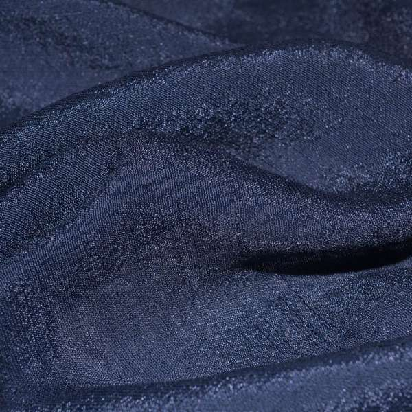 Вискоза жатая темно синяя ш.150 оптом