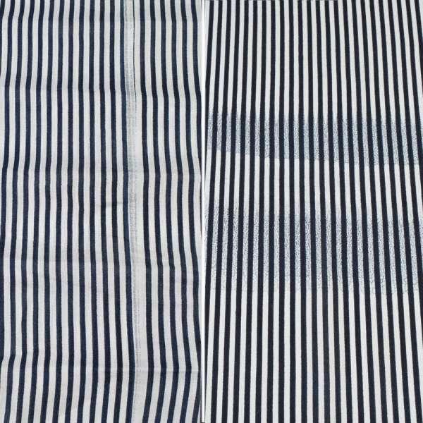 Вискоза белая в синюю полоску (2сорт), ш.140 оптом