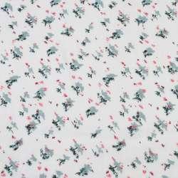 Вискоза белая, красно-серые мелкие цветки (2сорт), ш.140 оптом