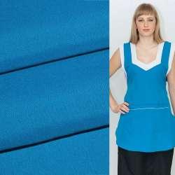 Габардин голубой насыщенный ш.150