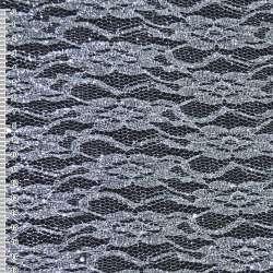 Гипюр белый с серебристым штампом и блестками (жесткий) ш.160 оптом