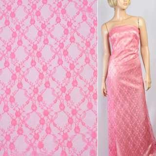 Гипюр розовый в мелкие цветы ш.150 оптом