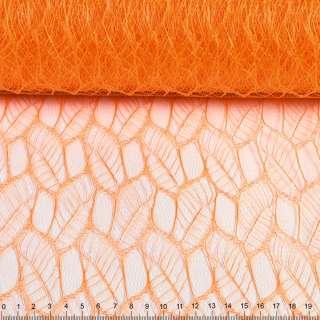 """Гипюр жесткий """"листья"""" оранжевый, ш.160 оптом"""