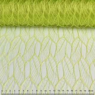 """Гіпюр жорсткий """"листя"""" зелений лайм, ш.160 оптом"""
