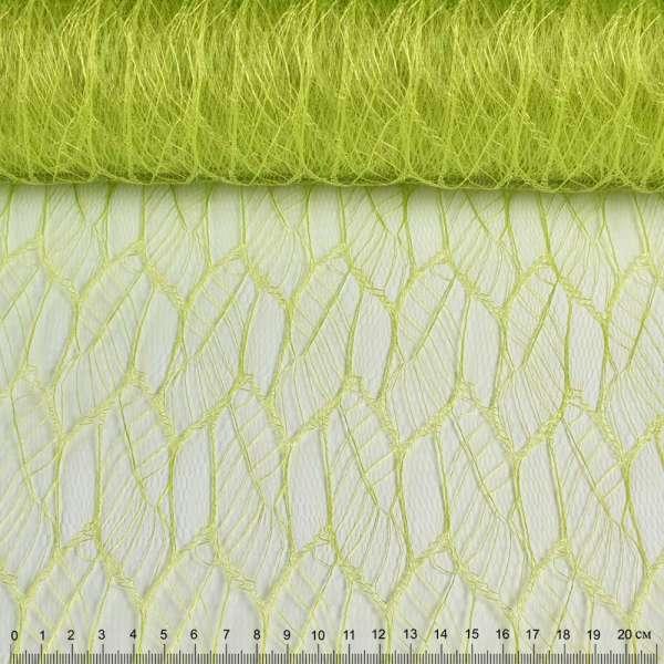 """Гипюр жесткий """"листья"""" зеленый лайм, ш.160 оптом"""