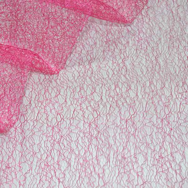 Паутинка жесткая ярко-розовая ш.150 оптом
