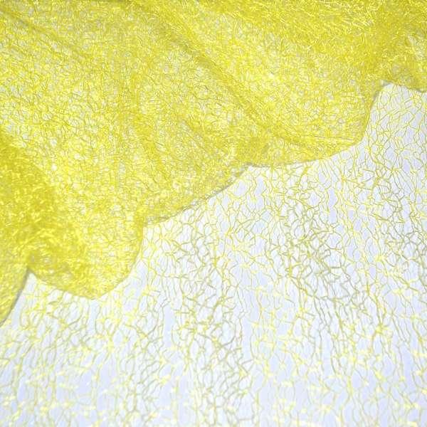 Гипюр-паутинка желтая яркая ш.150 оптом