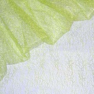 Гипюр-паутинка салатово-желтая ш.150 оптом