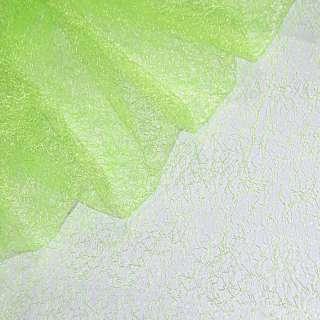 Гипюр-паутинка салатовая неоновая ш.150 оптом