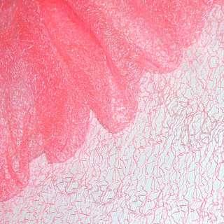 Гипюр-паутинка розовая неоновая ш.150 оптом