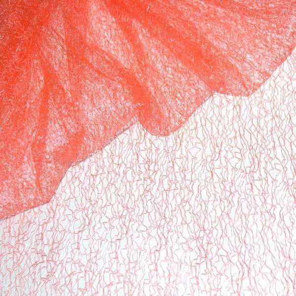 Гипюр-паутинка оранжево-розовая ш.150 оптом