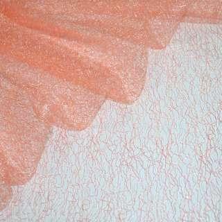 Гипюр-паутинка персиково-розовая ш.150 оптом