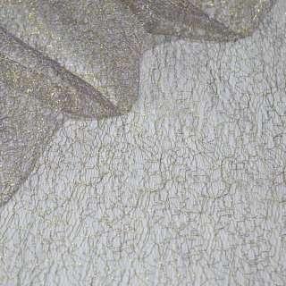 Гипюр-паутинка фиолетовая светлая с золотым люрексом ш.150 оптом