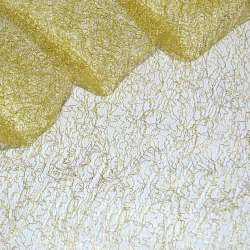 Гипюр-паутинка желтая с золотистым люрексом ш.160 оптом