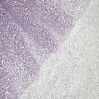 Гіпюр-павутинка фіолетова світла з срібним люрексом ш.160 оптом
