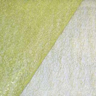 Гипюр-паутинка лимонная с люрексом ш.160 оптом