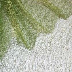 Гипюр-паутинка зеленая с золотистым люрексом ш.160 оптом
