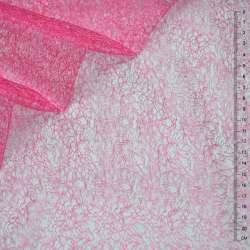 Гипюр-паутинка розово-малиновая ш.150