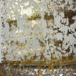 Гипюр-паутина золотистая с золотистым штампом ш.155 оптом