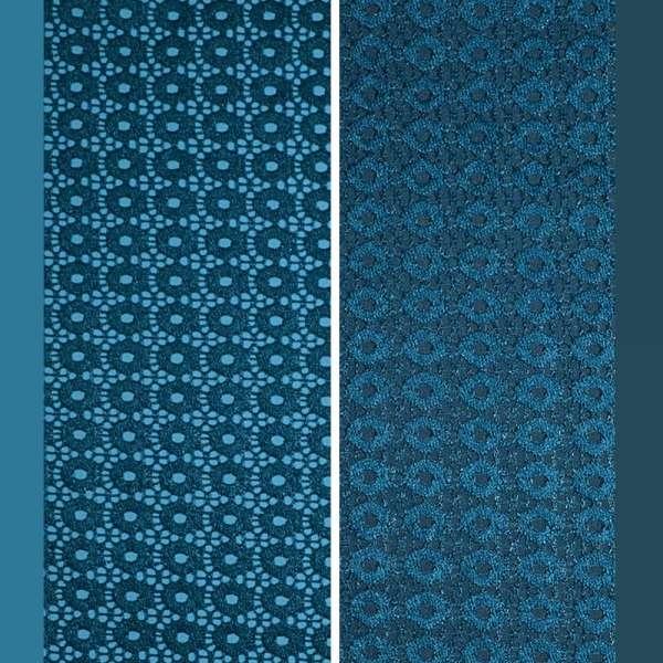 Кружевное полотно стрейч кружочки бирюзовое ш.145 оптом
