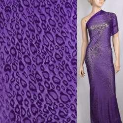 Гипюр стрейч фиолетовый с каплями ш.150 оптом