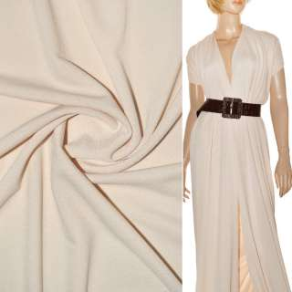 Креп-дайвинг(трикотаж костюмный) кремовый ш.160 оптом