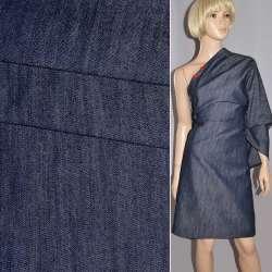 Коттон-джинс стрейч серый светлый с синим оттенком ш.165 оптом