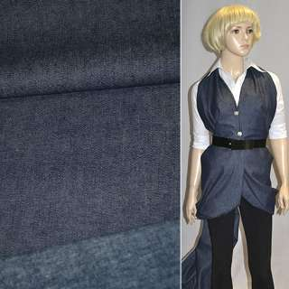 коттон-джинс с начесом темно-синий ш.135 оптом