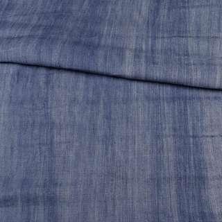 Джинс синий светлый вареный, ш.150 оптом