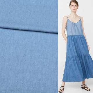 Джинс рубашечный голубой, ш.150 оптом