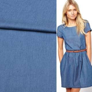 Джинс рубашечный синий светлый, ш.150 оптом