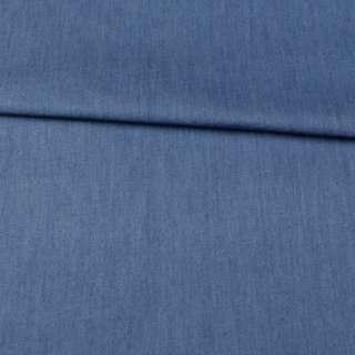 Джинс голубой темный, дублированный флизелином, ш.150 оптом