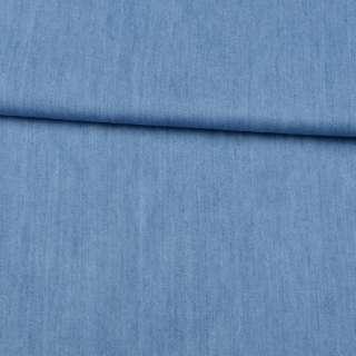 Джинс голубой, дублированный флизелином, ш.150 оптом