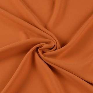 Бистрейч креп плательный коричнево-рыжий, ш.150 оптом