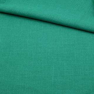 Креп льон стрейч зелено-бірюзовий, ш.150 оптом