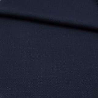 Креп льон стрейч синій темний, ш.150 оптом