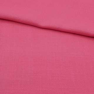 Креп льон стрейч рожевий ш.150 оптом