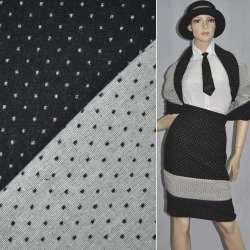 Жаккард 2-ст. черно-белый крапки ш.150